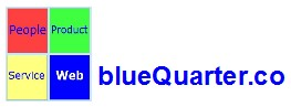 Web link to the home page of blueQuarter.co - our web design and support service